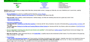 WebWord.com When It First Launched